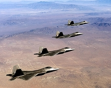 F/A-22 Raptor Formation in Flight F-22 Photo Print