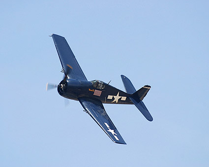 F6F Hellcat WWII Fighter Banking Photo Print