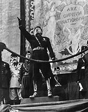 Fascist Italian PM Benito Mussolini WWII Photo Print for Sale