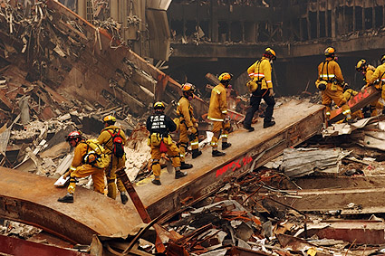 FDNY Rescue Workers at Ground Zero 9/11 Photo Print