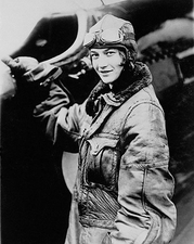 Female Pilot Mary Fechet & Plane 1929 Photo Print