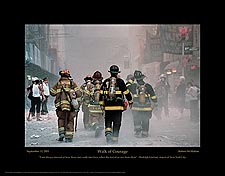 "9/11 Firefighter ""Walk of Courage"" Poster or Photo Print For Sale"