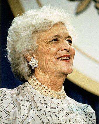 First Lady Barbara Bush Portrait Photo Print