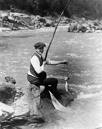 Fisherman Fishing Washington D.C. Stream Photo Print