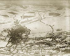 Fl�ville, France Aerial View WWI Photo Print for Sale