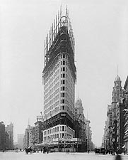 Flatiron Building Under Construction 1902 Photo Print for Sale