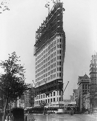 Flatiron Building Under Construction 1902 Photo Print