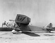 Ford XB-906 Trimotor Bomber Aircraft on Ramp Photo Print for Sale
