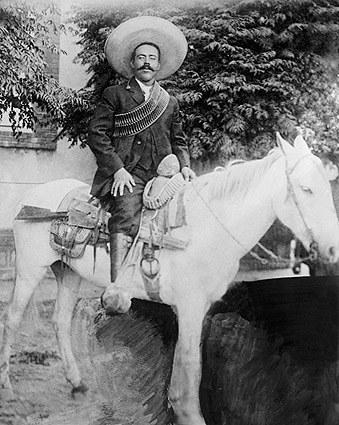 Francisco 'Pancho' Villa on Horseback Mexican Revolution Photo Print