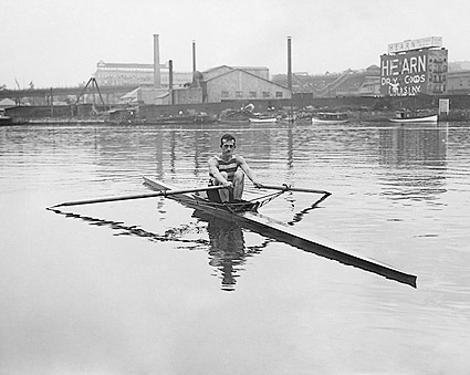 Fred Fussell Rowing in One Man Shell Photo Print