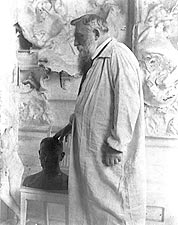 French Sculptor Auguste Rodin Portrait 1905 Photo Print for Sale