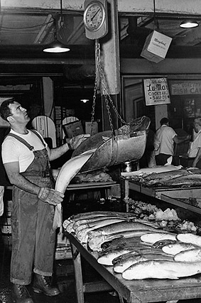 Fulton Fish Market in New York City 1963 Photo Print