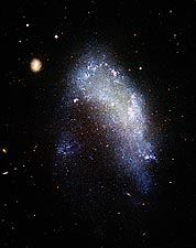 Galaxy in Motion Through Galaxy Cluster Hubble Telescope Photo Print for Sale