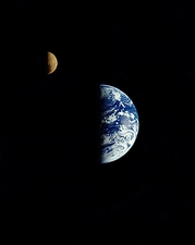 Galileo Flyby of Earth & Moon NASA Photo Print