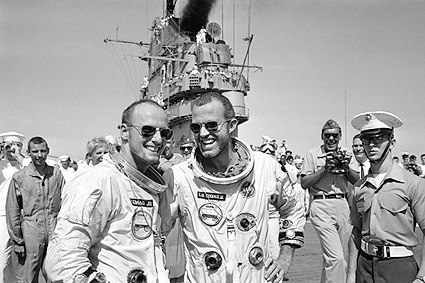 Gemini 5 Astronauts Gordon Cooper & Pete Conrad Photo Print