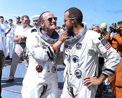 Gemini 5 Crew Sharing a Laugh Photo Print