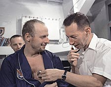 Gemini 5 Pete Conrad Medical Check Photo Print for Sale