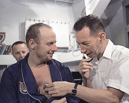 Gemini 5 Pete Conrad Medical Check Photo Print