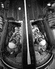 Gemini 4 Astronauts McDivitt & White in Capsule Photo Print for Sale
