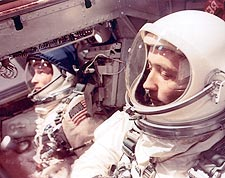 Gemini IV Astronauts Inside Capsule Photo Print for Sale