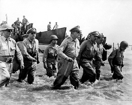 General Douglas MacArthur's Return to Philippines 1944 Photo Print