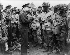 General Dwight Eisenhower with Troops WWII Photo Print for Sale