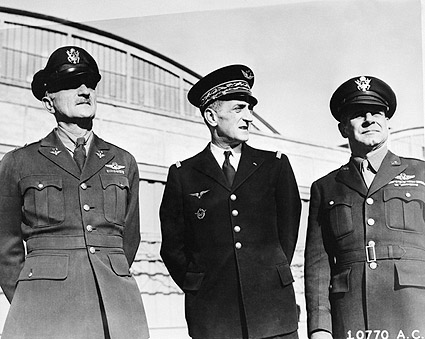 Generals Jimmy Doolittle, Bergeret & Spaatz WWII Photo Print