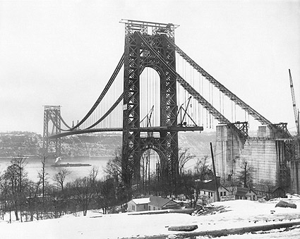George Washington Bridge Construction, NYC Photo Print