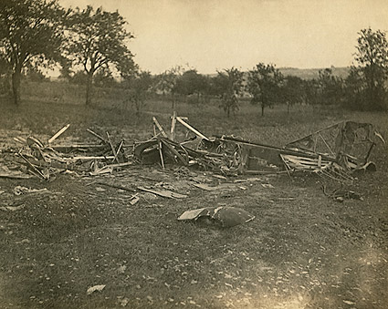 German Aircraft Shot Down in World War I Photo Print