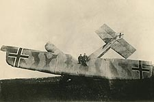 German Biplane Crash WWI  Photo Print for Sale