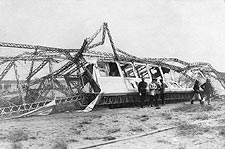German Naval Airship / Blimp L2 Wreck 1913 Photo Print for Sale
