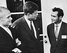 German Titov, John Glenn & JFK White House Photo Print for Sale