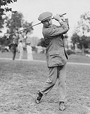 Golfer Harry Vardon Swinging Golf Club 1908 Photo Print for Sale