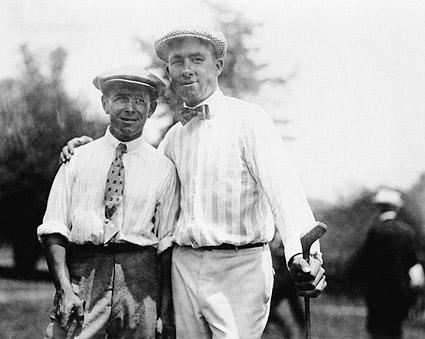 Golfer Walter Hagen & Louis Tellier Golf Photo Print