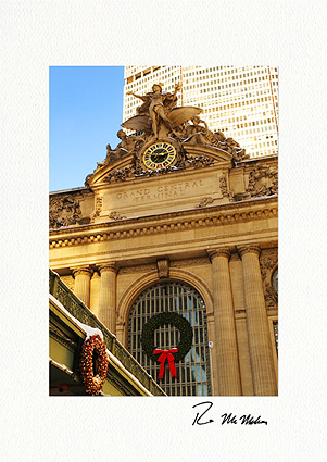 Grand Central Station Christmas Wreath Boxed Christmas Cards