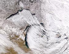 Great Lakes & Lake Effect NASA Satellite Photo Print for Sale
