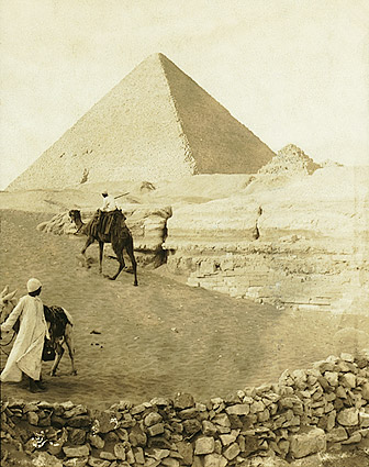 Great Pyramid of Giza in Egypt 1913 Photo Print