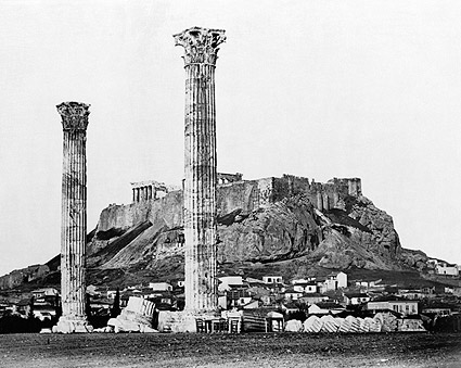 Greek Temple of Olympian Zeus Ancient Greece Photo Print