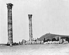 Greek Temple of Olympian Zeus Columns Photo Print for Sale
