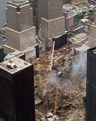 Ground Zero Cleanup Aerial View 9/11 Photo Print