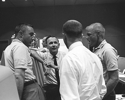 Gus Grissom & John Glenn in Control Center Photo Print