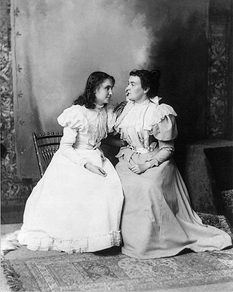 Helen Keller & Anne Sullivan Portrait 1897 Photo Print