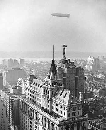Hindenburg & New York Times Building 1936 Photo Print
