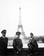Hitler in Paris w/ Eiffel Tower WWII Photo Print for Sale