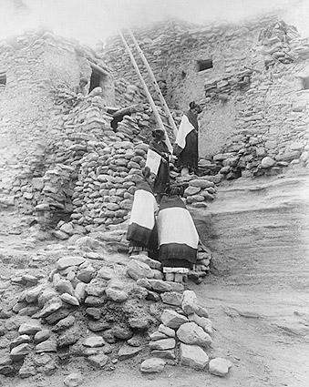 Hopi Indian Pueblo Homes Edward S. Curtis Photo Print