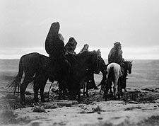 Hopi Indians on Horseback Edward S. Curtis Photo Print for Sale