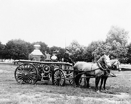Horse Drawn Antique Fire Engine in York, PA Photo Print
