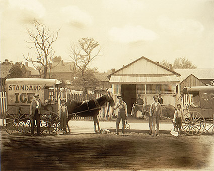 Horse Drawn Ice Wagon Standard Ice 1900 Photo Print