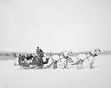 Horse Drawn Postal Snow Sled, Alaska Photo Print for Sale