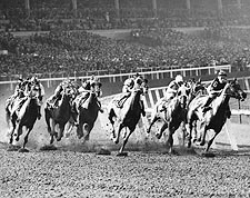 Horse Racing at Santa Anita Race Track Photo Print for Sale